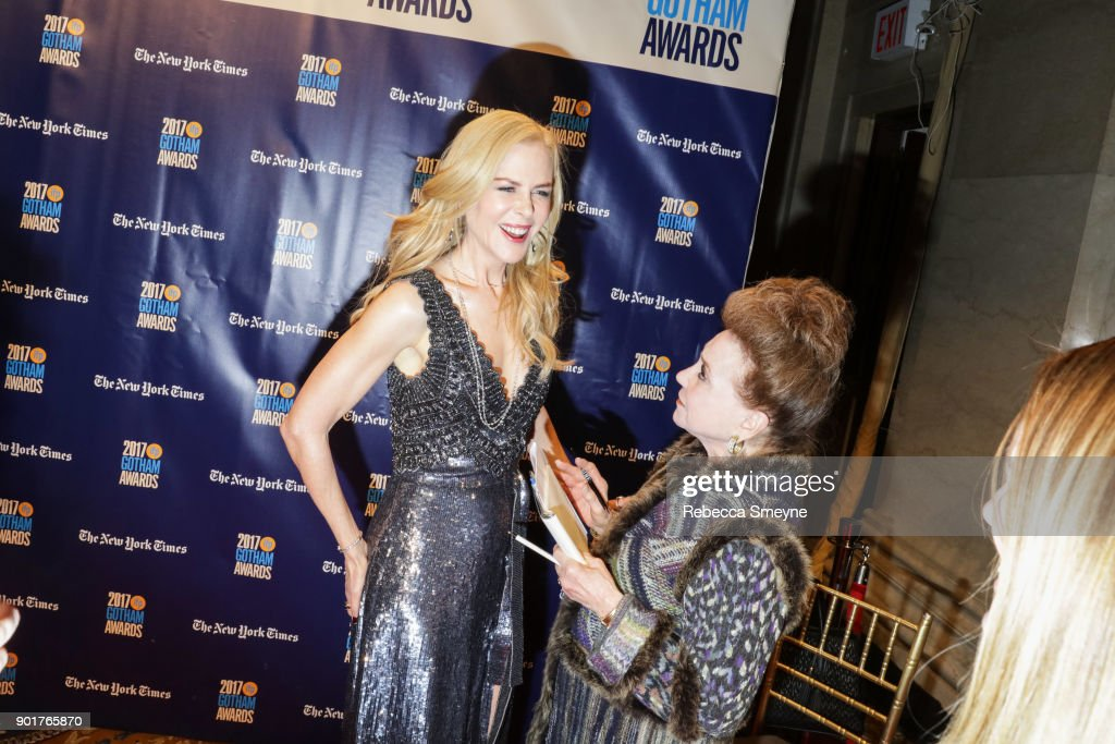 Nicole Kidman is interviewed by Cindy Adams at the 2017 IFP Gotham Awards at Cipriani Wall Street on November 27, 2017 in New York, NY.