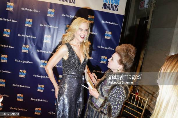 Nicole Kidman is interviewed by Cindy Adams at the 2017 IFP Gotham Awards at Cipriani Wall Street on November 27 2017 in New York NY