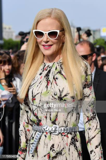 Nicole Kidman is seen arriving for the Prada fashion show during the Milan Fashion Week Spring/Summer 2020 on September 18, 2019 in Milan, Italy.