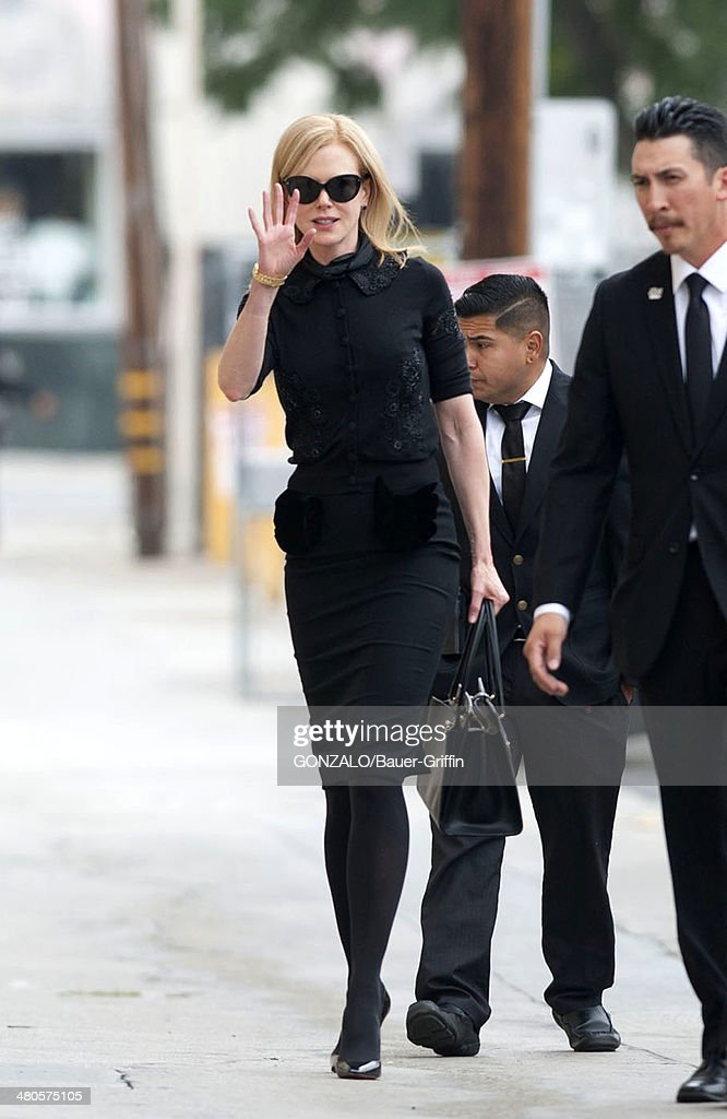 Nicole Kidman is seen as she arrives for an appearance on 'Jimmy Kimmel Live!' on March 25, 2014 in Los Angeles, California.
