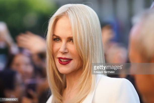 Nicole Kidman is seen outside Armani during Paris Fashion Week Haute Couture Fall/Winter 2019/20 on July 02 2019 in Paris France