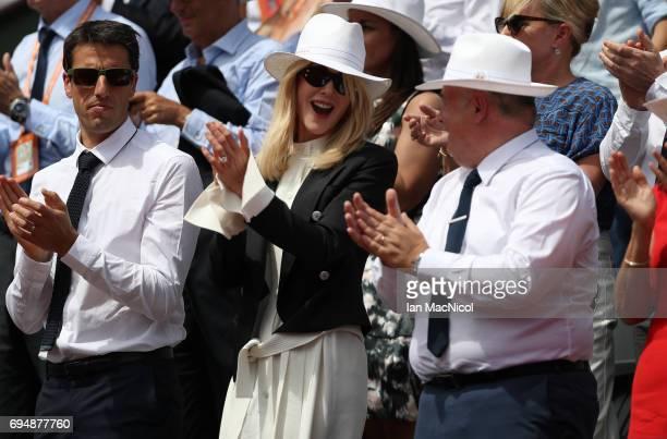 Nicole Kidman is seen Prior to the Men's Singles Final between Rafael Nadal of Spain and Stan Wawrinka of Switzerland on day fifthteen at Roland...