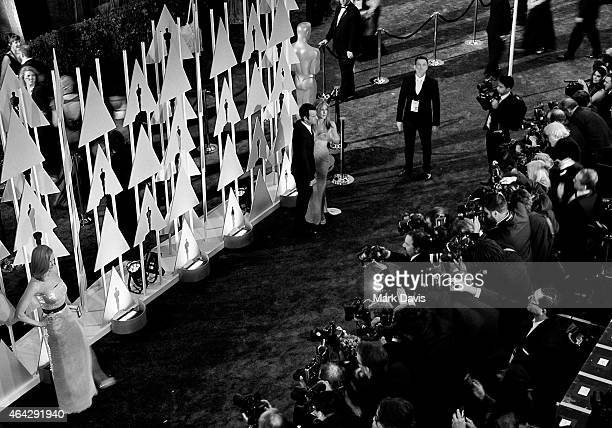 Nicole Kidman Jennifer Aniston and Justin Theroux attend the 87th Annual Academy Awards at Hollywood Highland Center on February 22 2015 in Hollywood...