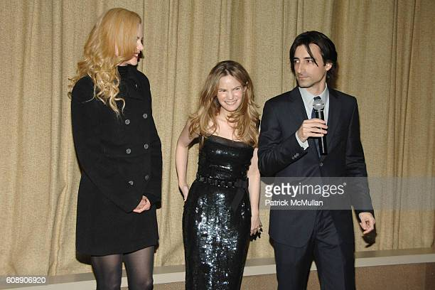 Nicole Kidman Jennifer Jason Leigh and Noah Baumbach attend THE CINEMA SOCIETY and LINDA WELLS host a screening of MARGOT AT THE WEDDING at Tribeca...