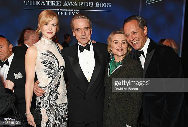 Nicole Kidman Jeremy Irons Sinead Cusack and Richard E Grant attend a champagne reception ahead of The London Evening Standard Theatre Awards in...