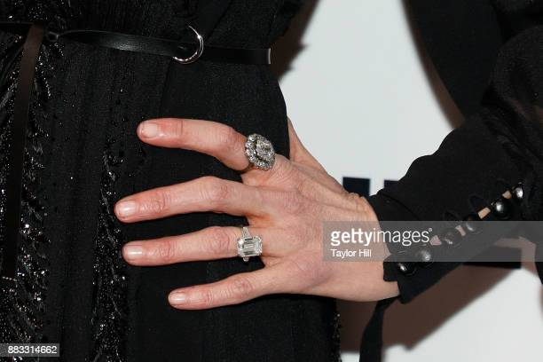 Nicole Kidman jewelry detail attends 'An Evening Honoring Louis Vuitton And Nicolas Ghesquiere' at Alice Tully Hall at Lincoln Center on November 30...