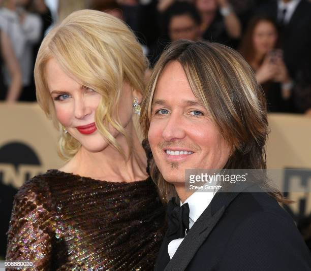 Nicole Kidman Keith Urban arrives at the 24th Annual Screen ActorsGuild Awards at The Shrine Auditorium on January 21 2018 in Los Angeles California