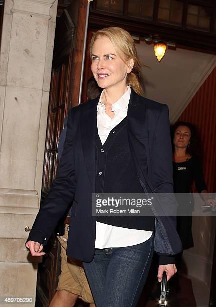 Nicole Kidman leaving the Noel Coward theatre on September 23 2015 in London England