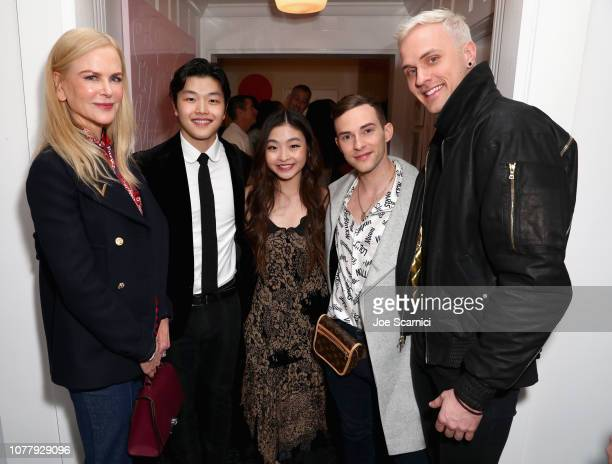 Nicole Kidman Maia Shibutani Alex Shibutani Adam Rippon and JussiPekka Kajaala attend The 6th Annual 'Gold Meets Golden' Brunch hosted by Nicole...