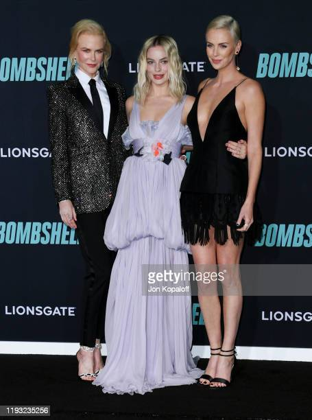 Nicole Kidman Margot Robbie and Charlize Theron attend Special Screening Of Liongate's Bombshell at Regency Village Theatre on December 10 2019 in...