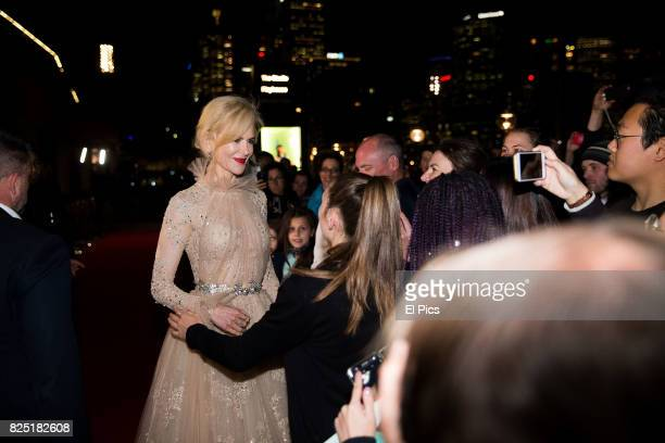 Nicole Kidman meets fans as she arrives ahead of the Top of the Lake China Girl Australian Premiere at Sydney Opera House on August 1 2017 in Sydney...