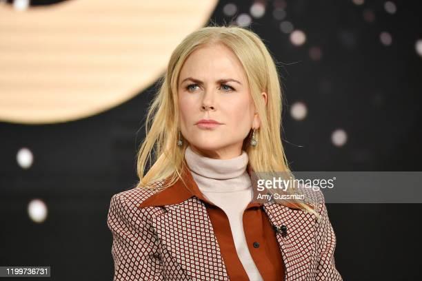 "Nicole Kidman of ""The Undoing"" speaks during the HBO segment of the 2020 Winter TCA Press Tour at The Langham Huntington, Pasadena on January 15,..."