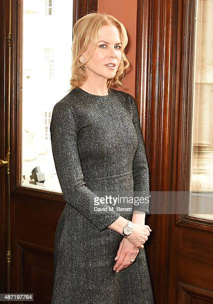 Nicole Kidman poses at a photocall for the Michael Grandage Company's production of Photograph 51 at the Noel Coward Theatre on September 7 2015 in...