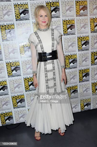 Nicole Kidman poses at the Warner Bros 'Aquaman' theatrical panel during ComicCon International 2018 at San Diego Convention Center on July 21 2018...