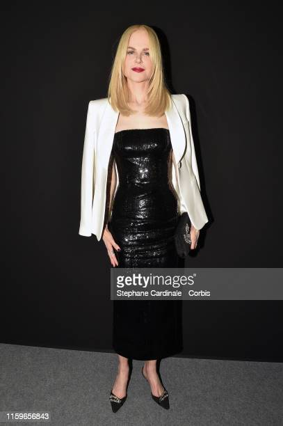 Nicole Kidman poses backstage after the Giorgio Armani Prive Haute Couture Fall/Winter 2019 2020 show as part of Paris Fashion Week on July 02 2019...