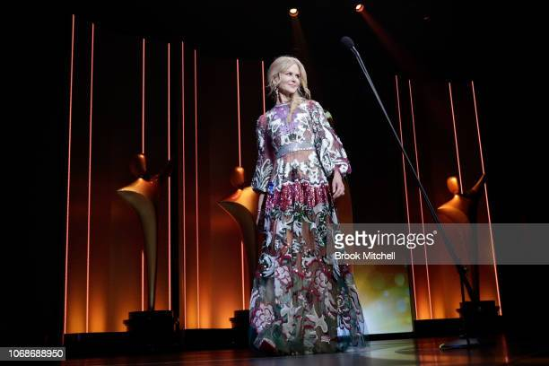 Nicole Kidman presents the AACTA Award for Best Lead Actor during the 2018 AACTA Awards Presented by Foxtel at The Star on December 5 2018 in Sydney...