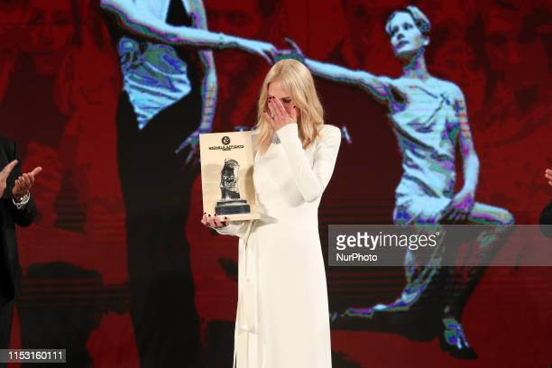 Nicole Kidman receives Taormina Arte Award during the 65th Taormina Film Fest 2019 ceremony on July 01 2019 in Taormina Italy
