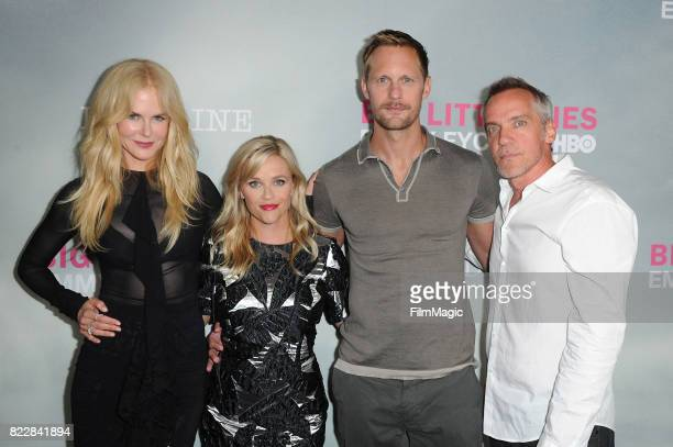 Nicole Kidman Reese Witherspoon Alex Skarsgard and JeanMarc Valleearrives at HBO 'Big Little Lies' FYC at DGA Theater on July 25 2017 in Los Angeles...