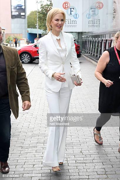 Nicole Kidman seen arriving at BFI Southbank on October 12 2016 in London England