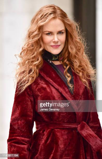 Nicole Kidman seen filming on location for 'The Undoing' on the Upper East Side on March 14, 2019 in New York City.