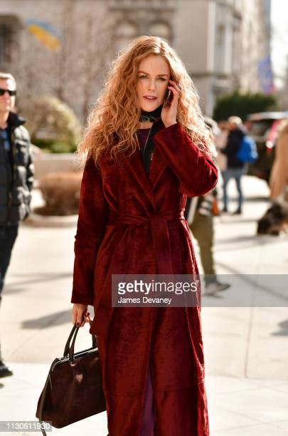Nicole Kidman seen filming on location for 'The Undoing' on the Upper East Side on March 14 2019 in New York City