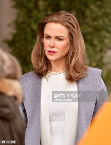 Nicole Kidman seen on location for 'Goldfinch' in Manhattan on March 12 2018 in New York City