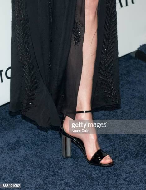 Nicole Kidman shoe detail attends an evening honoring Louis Vuitton and Nicolas Ghesquiere at Alice Tully Hall at Lincoln Center on November 30 2017...