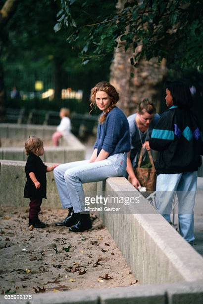 Nicole Kidman sits in Central Park with her daughter Isabella