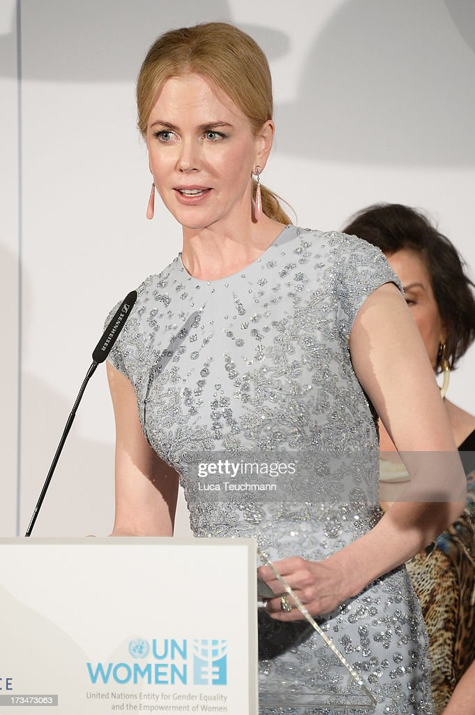 Nicole Kidman speaks during the Cinema for Peace UN women honorary dinner at Soho House on July 12, 2013 in Berlin, Germany.