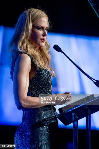 Nicole Kidman speaks onstage during IFP's 27th Annual Gotham Independent Film Awards at Cipriani Wall Street on November 27 2017 in New York City
