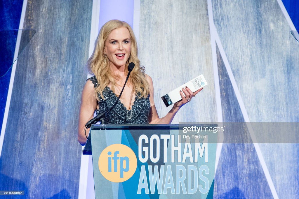 Nicole Kidman speaks onstage during IFP's 27th Annual Gotham Independent Film Awards at Cipriani Wall Street on November 27, 2017 in New York City.