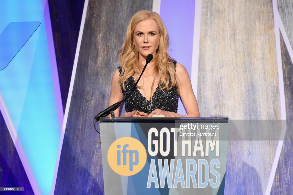 Nicole Kidman speaks onstage during IFP's 27th Annual Gotham Independent Film Awards on November 27, 2017 in New York City.