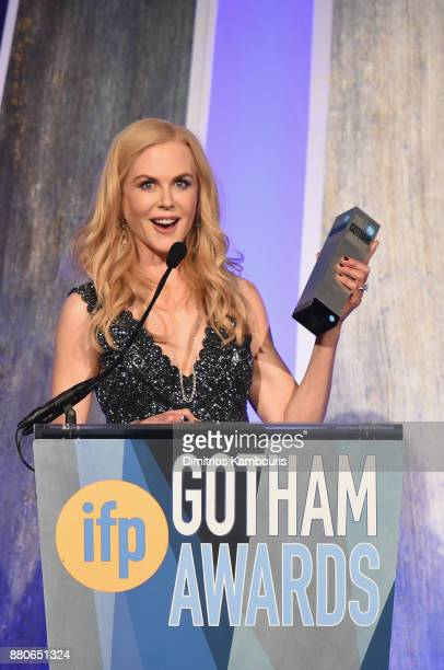 Nicole Kidman speaks onstage during IFP's 27th Annual Gotham Independent Film Awards on November 27 2017 in New York City