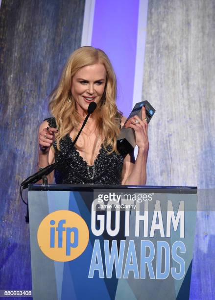 Nicole Kidman speaks onstage the 2017 IFP Gotham Awards at Cipriani Wall Street on November 27 2017 in New York City