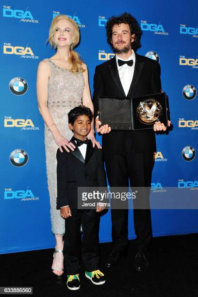 R Nicole Kidman Sunny Pawar and Garth Davis attend the 69th Annual Directors Guild of America Awards at The Beverly Hilton Hotel on February 4 2017...