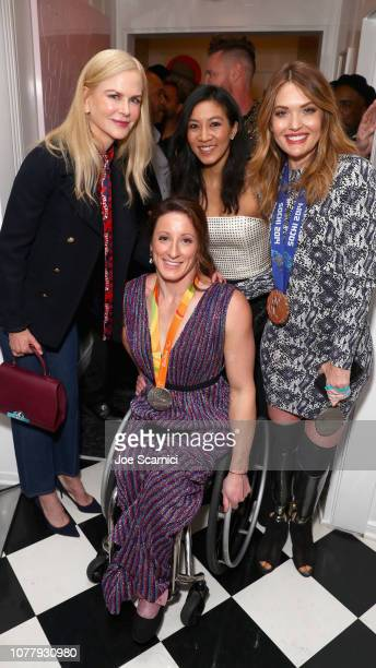 Nicole Kidman Tatyana McFadden Michelle Kwan and Amy Purdy attend The 6th Annual 'Gold Meets Golden' Brunch hosted by Nicole Kidman and Nadia...