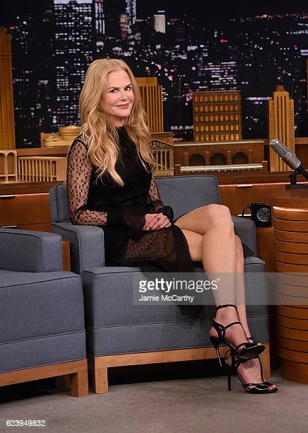 Nicole Kidman visits 'The Tonight Show Starring Jimmy Fallon' at Rockefeller Center on November 16 2016 in New York City