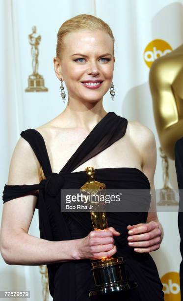 Nicole Kidman winner of Best Actress in 'The Hours'