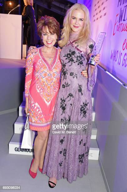 Nicole Kidman winner of the Film Actress award and presenter Kathy Lette attend the Glamour Women of The Year Awards 2017 in Berkeley Square Gardens...