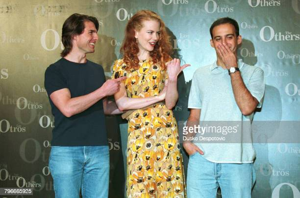 Nicole Kidman with husband Tom Cruise and the movies director Alejandro Amenabar