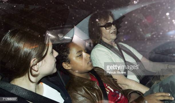 Nicole Kidman's mother Janelle with Nicole's children Isabella and Connor leave Nicole's house on June 22 2006 in Sydney Australia