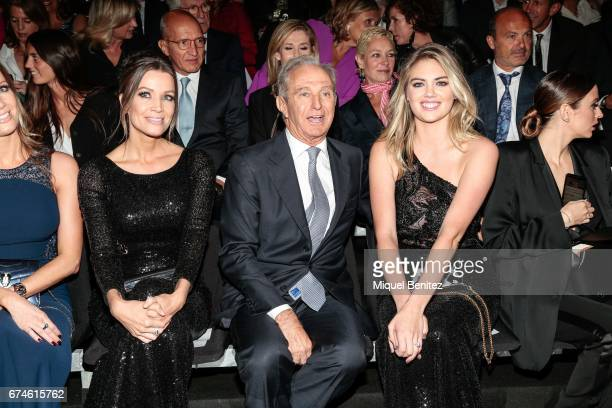 Nicole Kimpel Alberto Palatchi Ribera and Kate Upton attend the Pronovias Show during Barcelona Bridal Fashion Week 2017 held at the Museu Nacional...