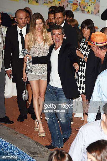 Nicole Kempel and Antonio Banderas attend 2015 Ischia Global Film Music Fest Day 2 on July 14 2015 in Ischia Italy