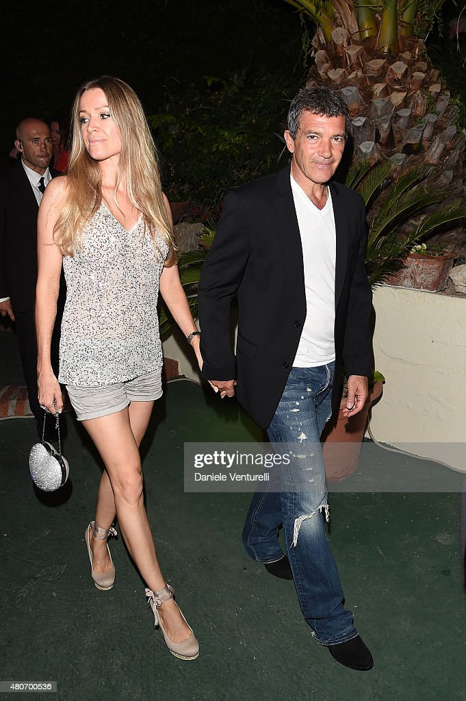 Nicole Kempel and Antonio Banderas attend 2015 Ischia Global Film & Music Fest Day 2 on July 14, 2015 in Ischia, Italy.