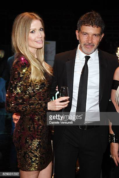 Nicole Kimpel and Antonio Banderas attend AMBI GALA in honor of Antonio Banderas and Jonathan Rhys Meyers on May 07 2016 in Rome