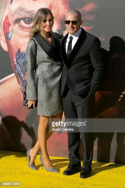 Nicole Kimpel and Antonio Banderas attend 'Genius Picasso' premiere at Cervantes Theatre on March 22 2018 in Malaga Spain