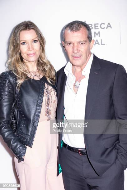 Nicole Kimpel and Antonio Banderas attend screening of Genius Picasso' during the 2018 Tribeca Film Festival at BMCC Tribeca PAC Manhattan