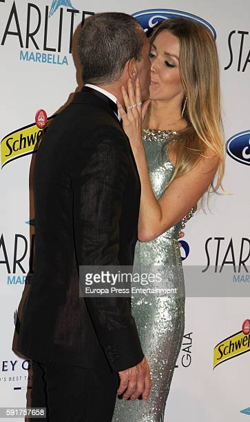 Nicole Kimpel and Antonio Banderas attend Starlite Gala on August 6 2016 in Marbella Spain