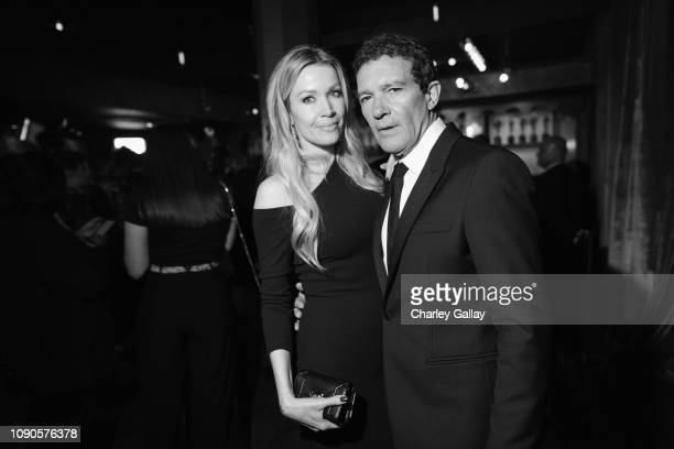 Nicole Kimpel and Antonio Banderas attend the 25th Annual Screen ActorsGuild Awards at The Shrine Auditorium on January 27 2019 in Los Angeles...