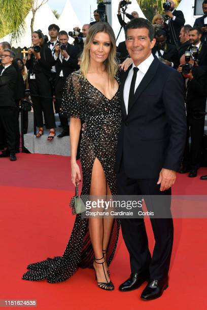 "Nicole Kimpel and Antonio Banderas attend the closing ceremony screening of ""The Specials"" during the 72nd annual Cannes Film Festival on May 25,..."